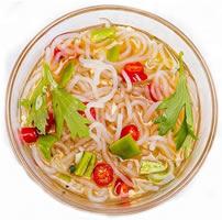 Calorie-arme pasta en rijst die glucomannan bevat