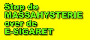 Stop E-sigaret massahysterie met onterechte aannames doden/ziekten oorzaak
