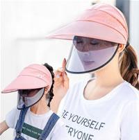 Handig prettig mondkapje alternatief: hoed of pet met plastic scherm tegen corona covid19